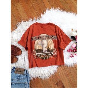 🌿 Vtg 90's • Yellowstone Graphic Crop Tee 🌿